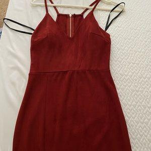 Red/Orange Velvet Papaya Dress
